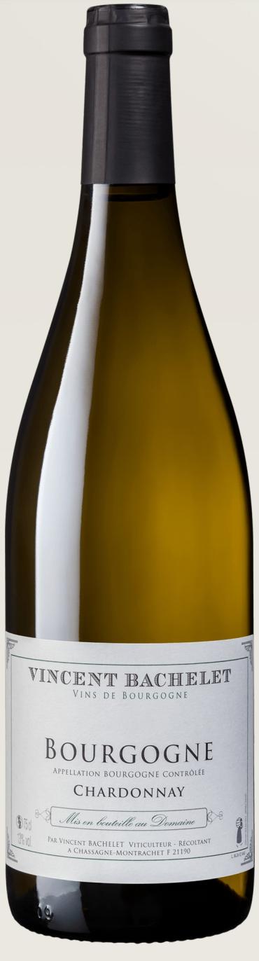 Bottiglia di vino Domaine Vincent Bachelet Bourgogne Blanc Chardonnay importazione distribuzione