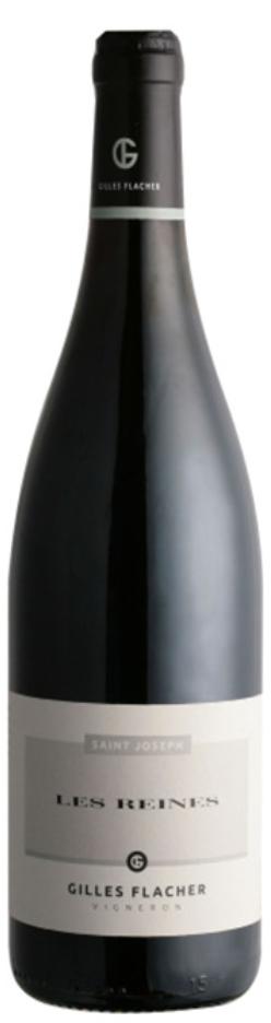 bottiglia vino rosso Domaine Gilles Flacher, Saint-Joseph Les Reines Wine Terroir Importazione