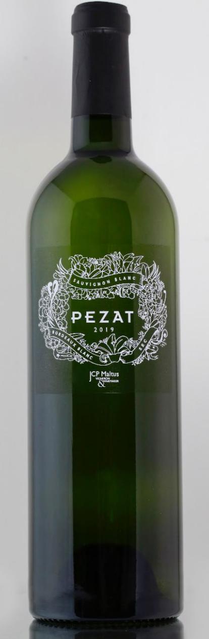 Bottiglia di vino Bordeaux Blanc Pezat JCP Maltus importazione distribuzione