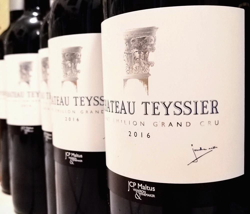 Bottiglie di vino importazione Bordeaux Chateau Teyssier Saint Emilion Grand Cru 2016