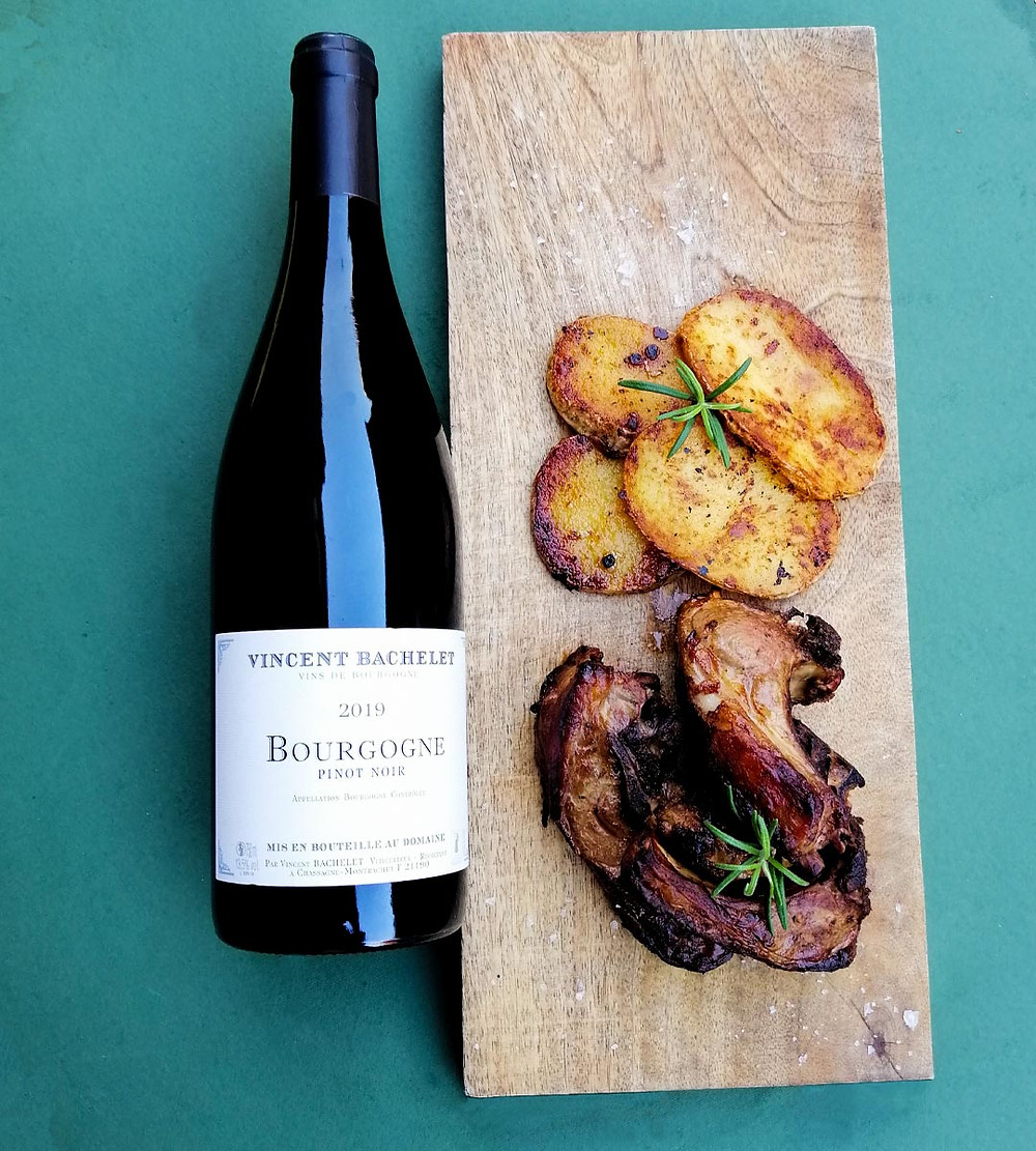 carne agnello vino rosso borgogna domaine vincent bachelet bourgogne Pinot Noir