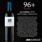 JCP Maltus, Les Astéries Saint-Emilion Grand Cru 2018 - Jeb Dunnuck