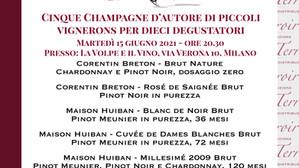 Evento degustazione a Milano: 5 Champagne di piccoli Vignerons