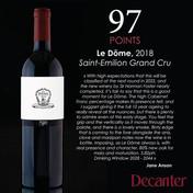 JCP Maltus, Le Dôme Saint-Emilion Grand Cru 2018 - Decanter
