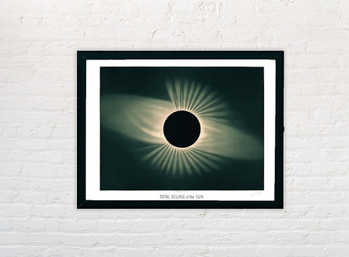 Etienne Trouvelot | Total Eclipse of the Sun | A3 Print