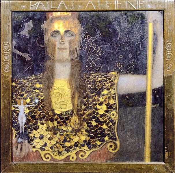 Pallas Athene by Gustav Klimt   The Dilettante