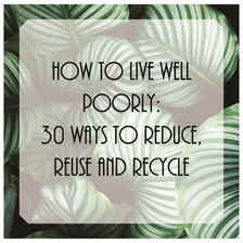 How To Live Well Poorly: 29 Ideas To Reduce, Reuse and Recycle.