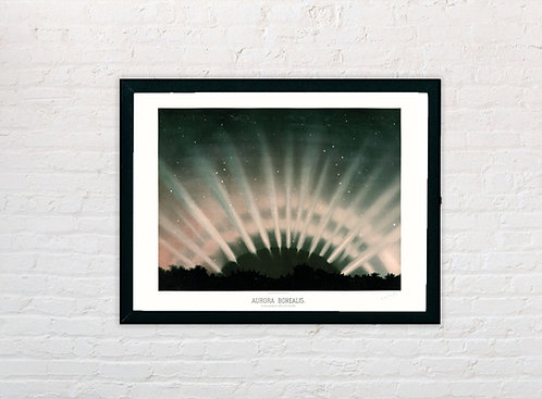 Etienne Trouvelot | Aurora Borealis | A3 Art Print