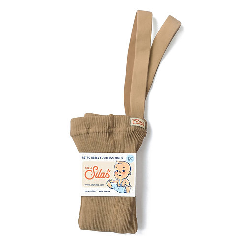 Silly Silas Footless Tights Light Brown