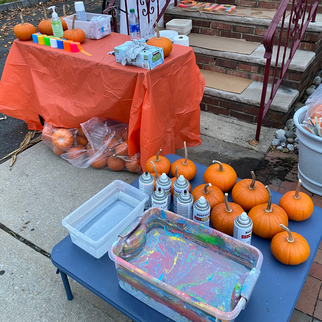 Hydro Dipping Pumpkins with The Studio
