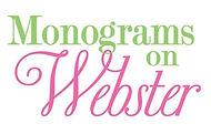 Mongrams on Webster