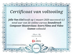 Certificate Soundtrack Composers Masterc