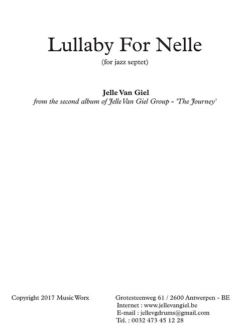 Lullaby For Nelle for jazz septet