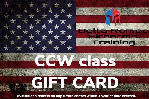 CCW class (gift card)