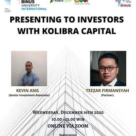 Presenting to Investors with Binus CIDER