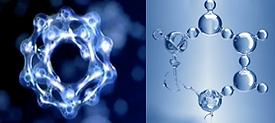 heksagonalt vann mikrostrukturert