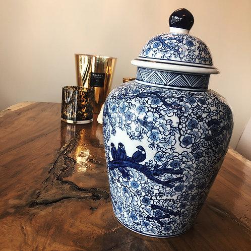 Delfts blauwe Chinese pot