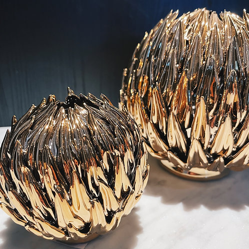 Thistle ball vase