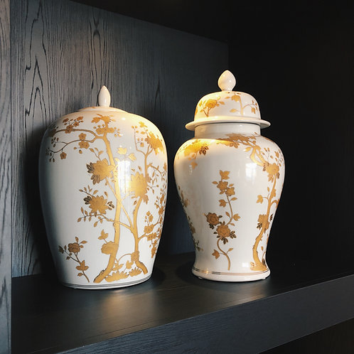 White/Gold porcelain