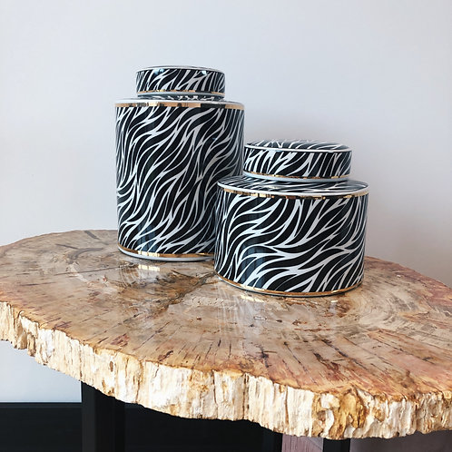 Zebra Porcelain black/white