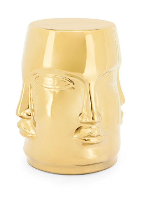 Face stool gold