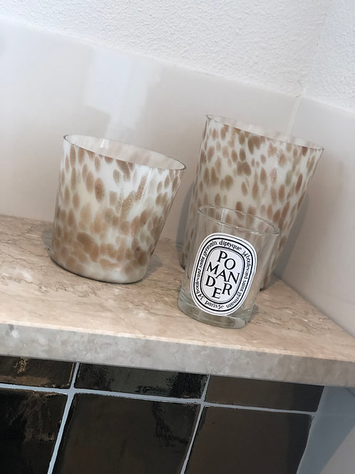 Scented candle white/gold