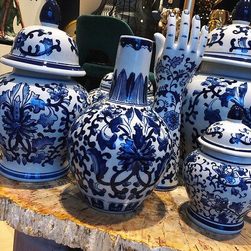 Delfts blauwe vaas 30