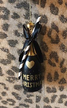 Kerstbal - Champagne fles