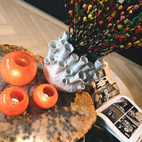 Coral vase white