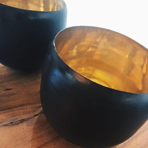 Vase black/gold
