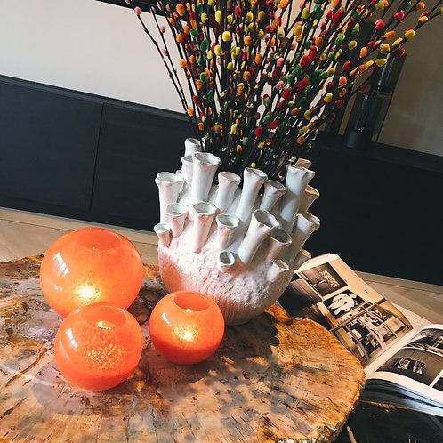 Vase orange bowl