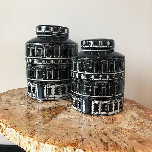 Florence Porcelain black/white round