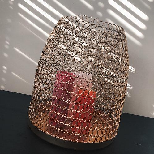 Windlicht gold basket
