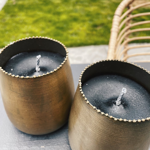 Brass antique outdoor candle