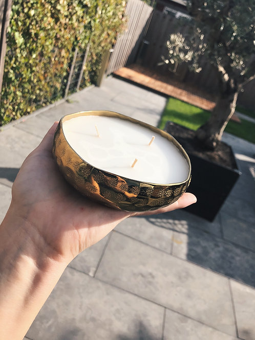 Gold candle
