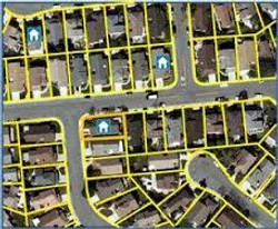 Parcel Boundries Overlaying Aerial