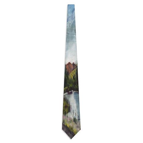 Necktie with Original Art by Rita - Rocky Mountains
