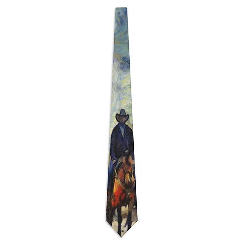 Necktie with Original Art by Rita - Cowboy