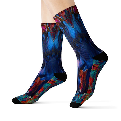 Sublimation Socks with Original Art by Rita - Bulls