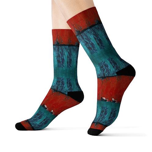 Sublimation Socks with Original Art by Rita