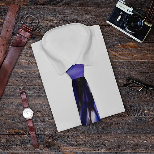 Necktie with Original Art by Rita - Blue Green Pattern