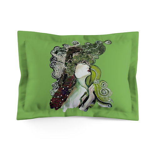 Microfiber Pillow Sham with Original Painting of Goddess