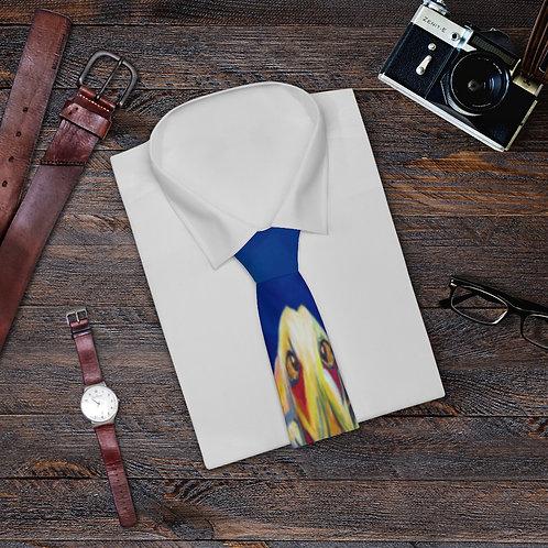 Necktie with Original Art by Rita - Blue Dog