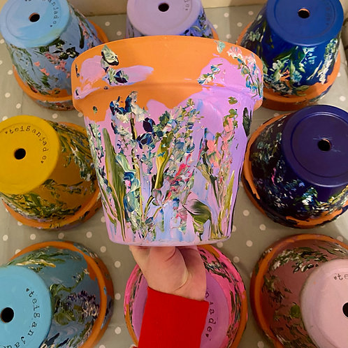 Hand Painted Plant Pot - (INSERTNAME)
