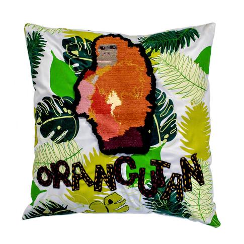 Orangutan Cushion - 'Alphabet, In the Jungle'