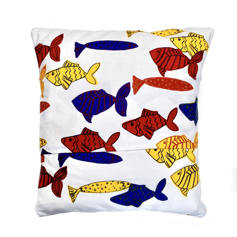 Puffin Cushion - 'Alphabet, Under the Sea'