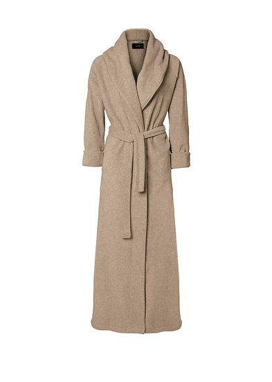 Fleece bathrobe beige