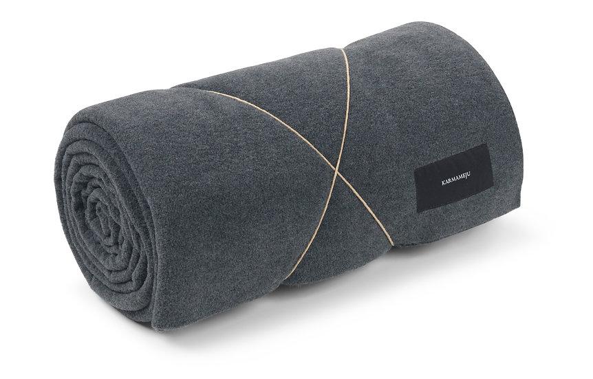 Fleece blanket dark grey
