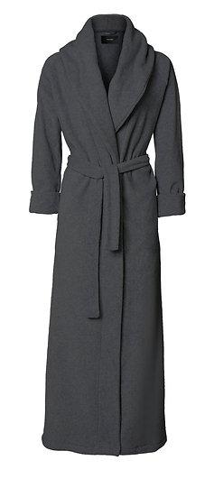 Fleece bathrobe dark grey