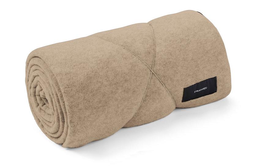 Fleece blanket beige